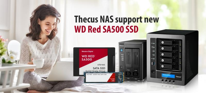 Thecus NAS support new WD Red SA500 SSD