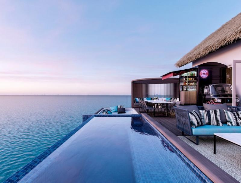 """Hard Rock Hotel is ready to """"amp-‐up"""" the Maldives with its upbeat brand of music-‐inspired stays"""
