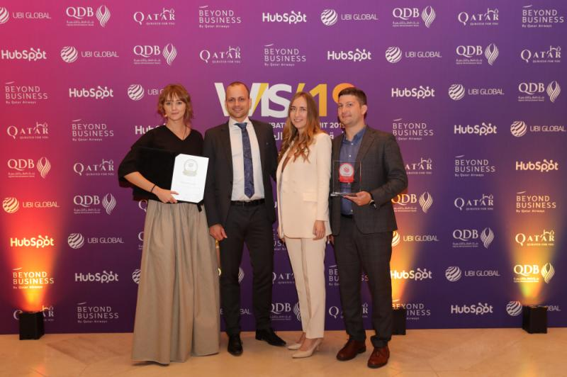 HSE Business Incubator at the awards ceremony in Doha © UBI Global AG, Sweden