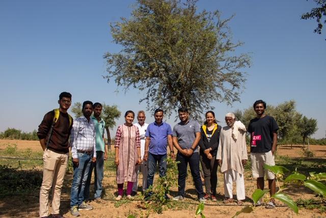 Tree Plantation Drive by Atmanirbhara PRC BITS Pilani Team Shell Eco Marathon and Krishi Vigyan Kendra, Churu