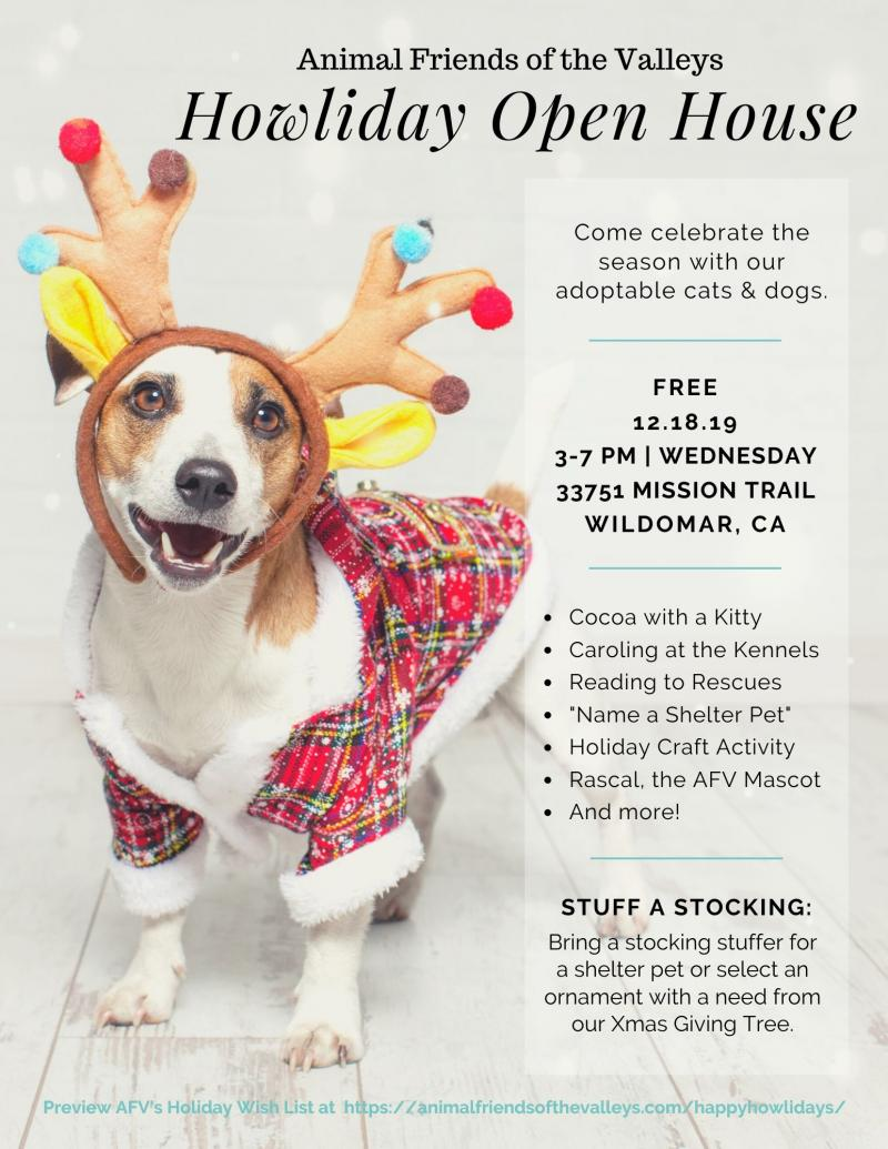 COCOA, KIDS CRAFTS & CAROLING AT THE KENNELS – INLAND EMPIRE