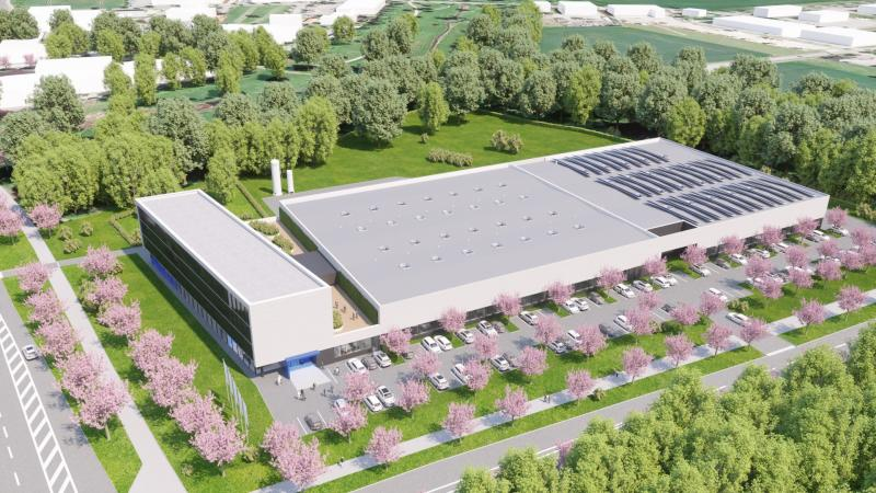 Draft of the new HORIBA FuelCon building