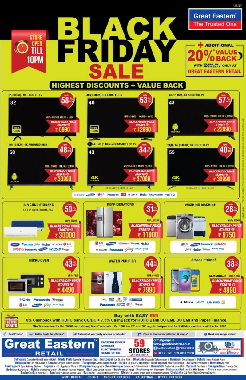 When we say, we offer the best products at the lowest price, we mean it. Here's announcing the Great Eastern Retail Black Friday S