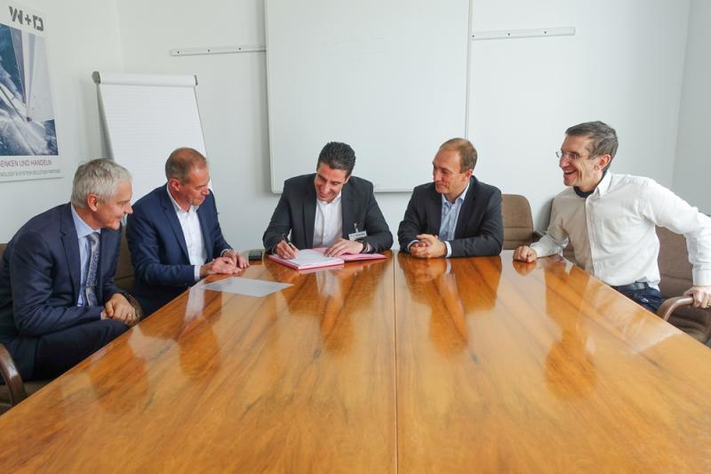 From left: Marc Sears (Heritage Envelopes Ltd.), Thorsten Jost (W+D), Thomas Schwarz (MKN), Frank Eichhorn (W+D) and Jean De Coue