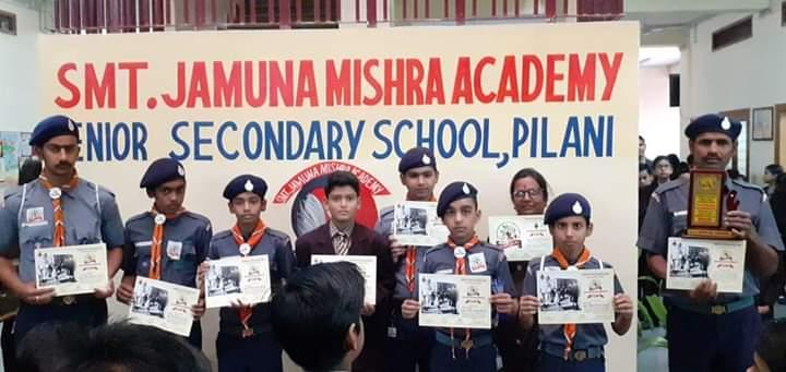 9 Scouts from JMA Pilani attend Bharat Scouts and Guides BSG Camp at Churu Rajasthan