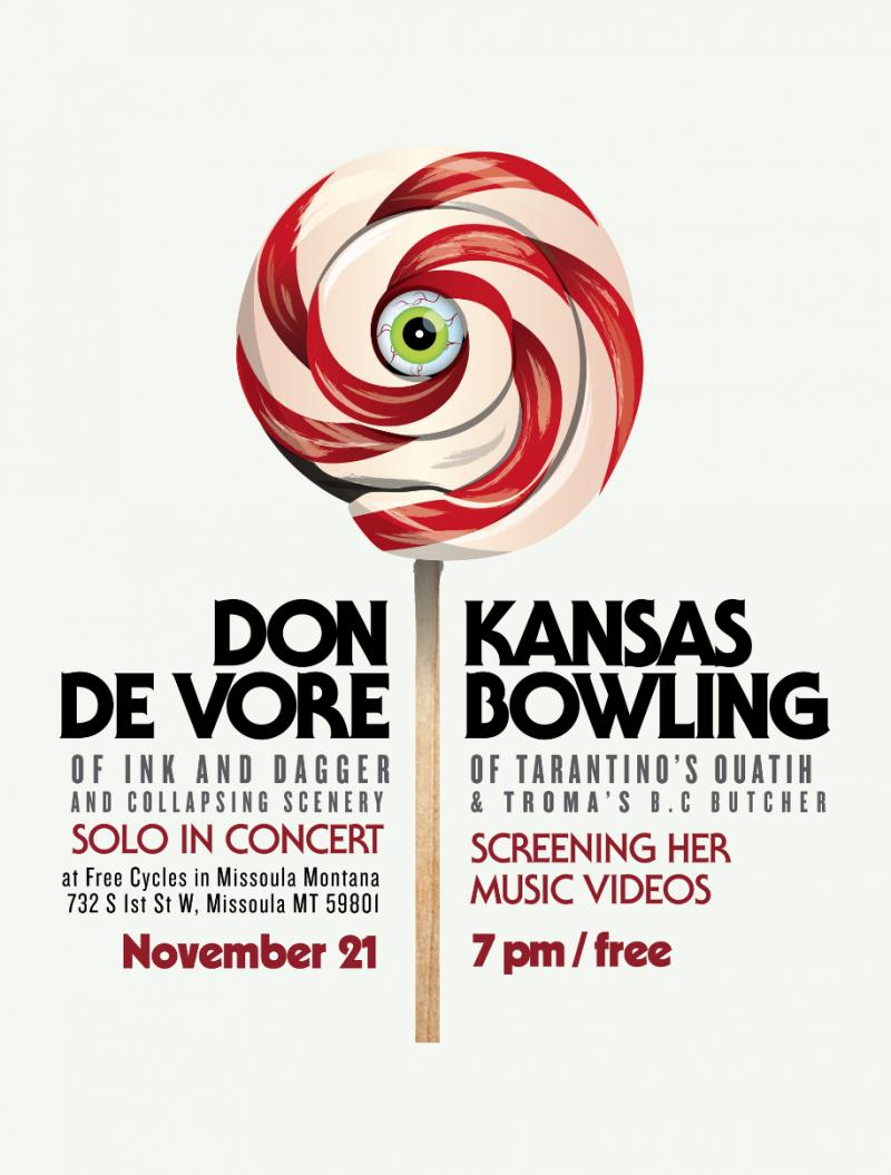 flyer for Kansas Bowling and Don De Vore's show