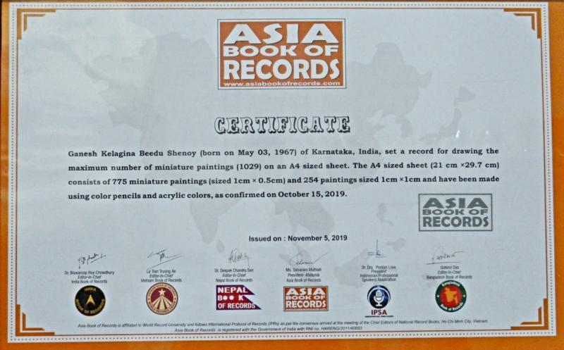 Ganesh Shenoy has broken Asia Record as well