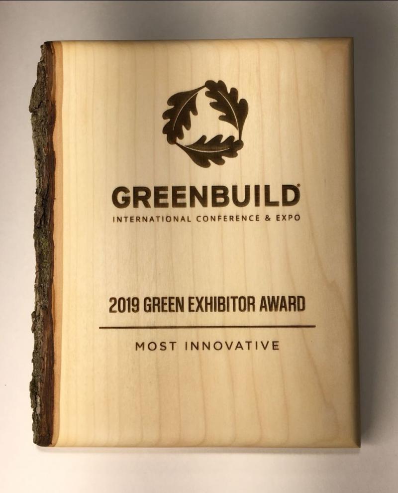 Green Dot Sign - Most Innovative Greenbuild Vendor