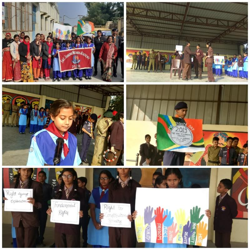 JMA Pilani Celebrates Human Rights Day 2019 with a Rally across town