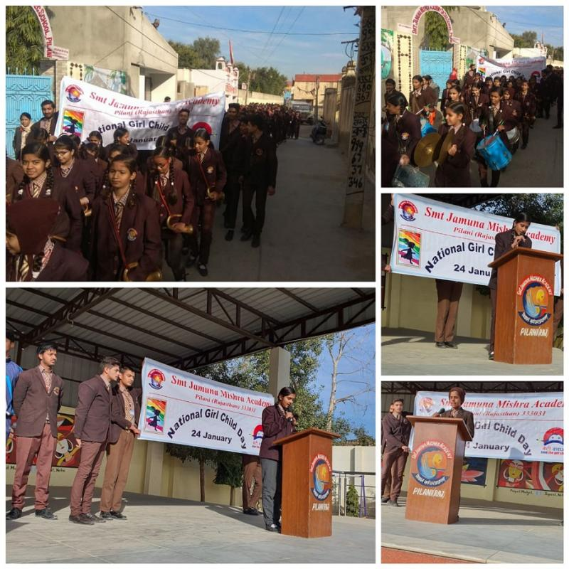 JMA Pilani takes a Rally across Town for National Girl Child Day