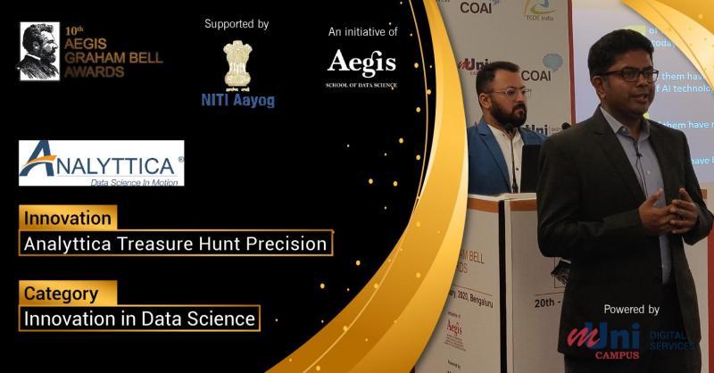 Satyamoy Chatterjee, EVP and Madhav Kaushik, AVP (Analyttica Datalab) demonstrated ATH Precision at Graham Bell Awards