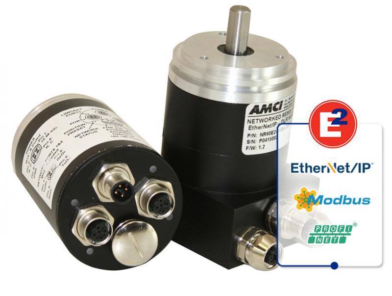 AMCI's NR60E2 Networked Rotary Shaft Encoders