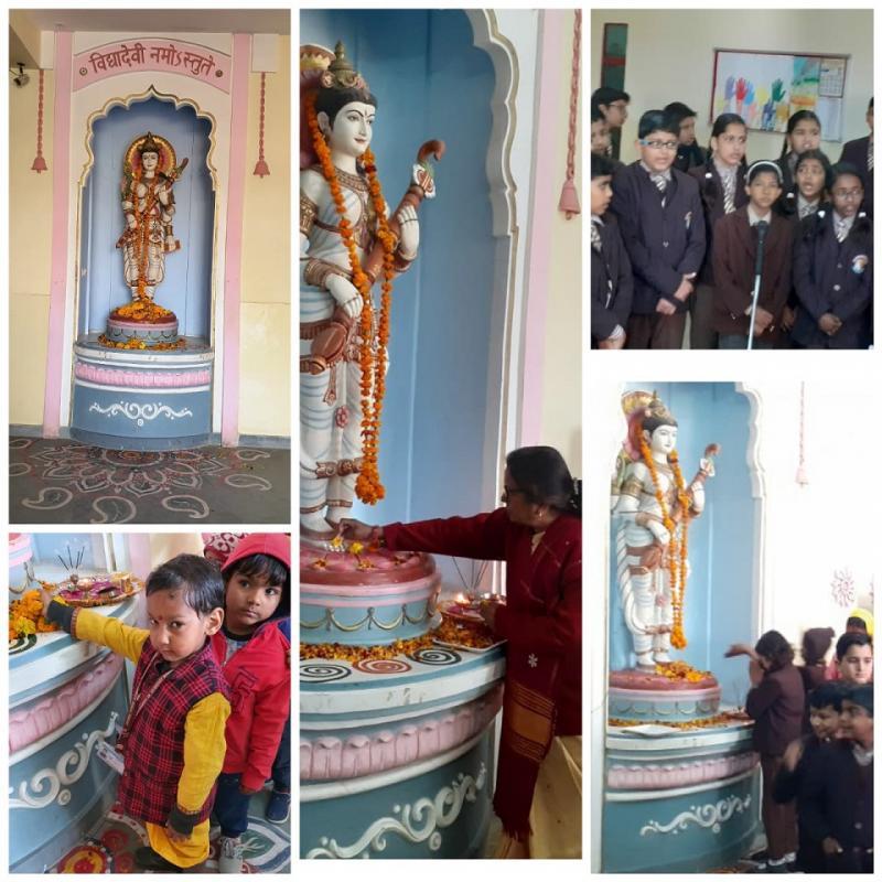 Lead Pilani School JMA Celebrates Basant Panchami with Traditional Fervor