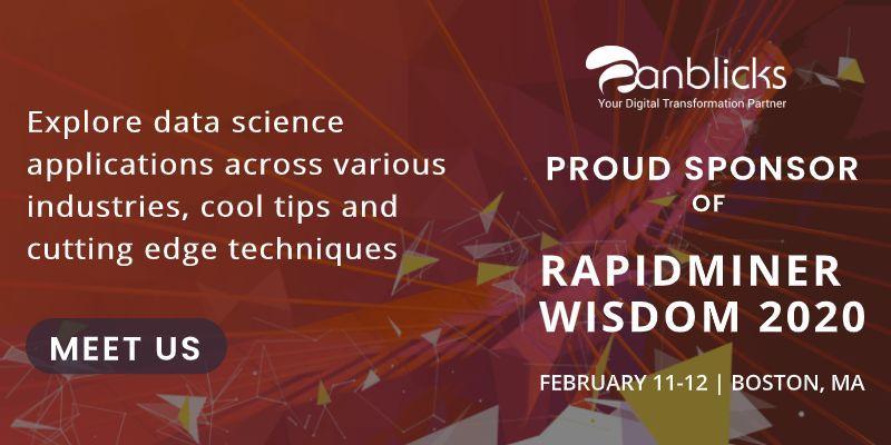 Anblicks is the Proud Sponsor of RapidMiner Wisdom 2020