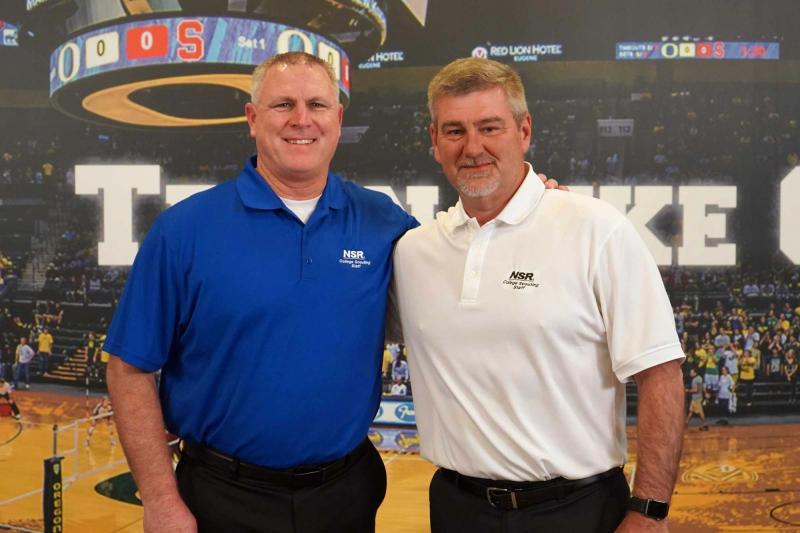 Coach Mike Smith et PDG de NSR, Rusty Rigney