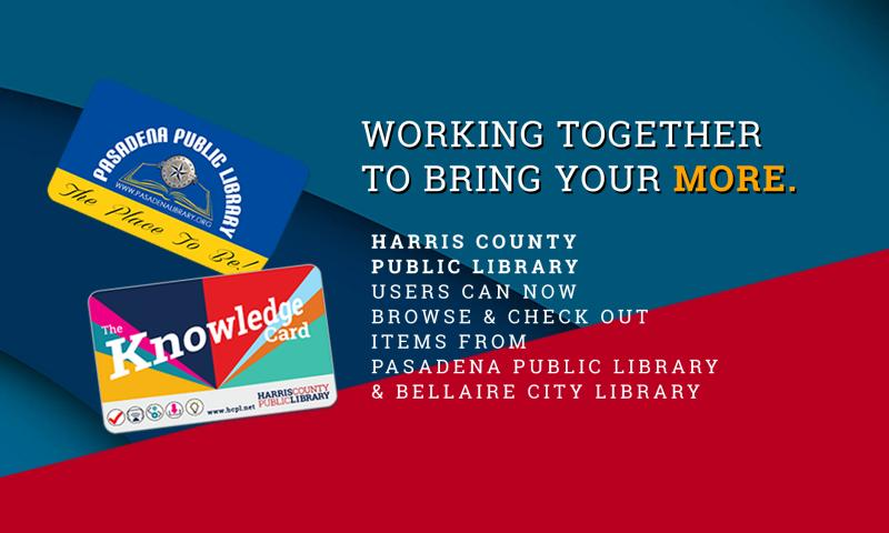 Harris County Public Library shares library catalog