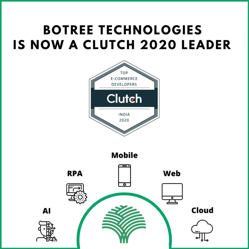 BoTree Technologies Recognized as a 2020 CLUTCH leader for Web