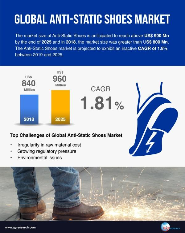 Anti Static Shoes Market To Touch Over Us 900 Mn By 2025