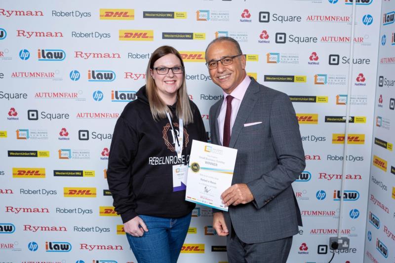 Rebel n Rose Halifax West Yorkshire wins top business award