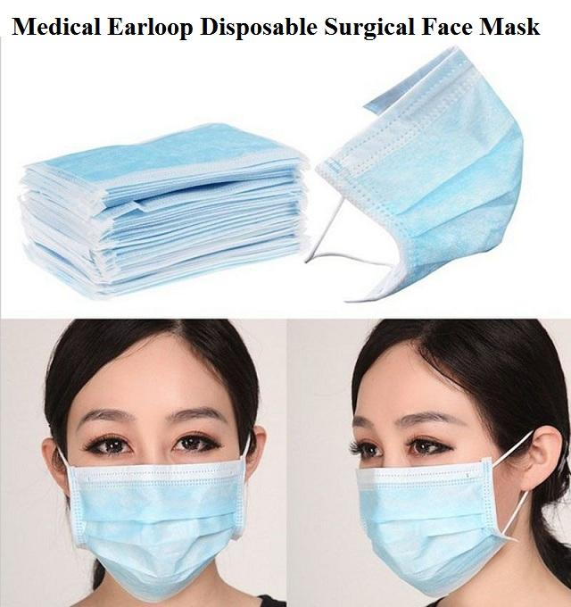 surgical earloop disposable face masks