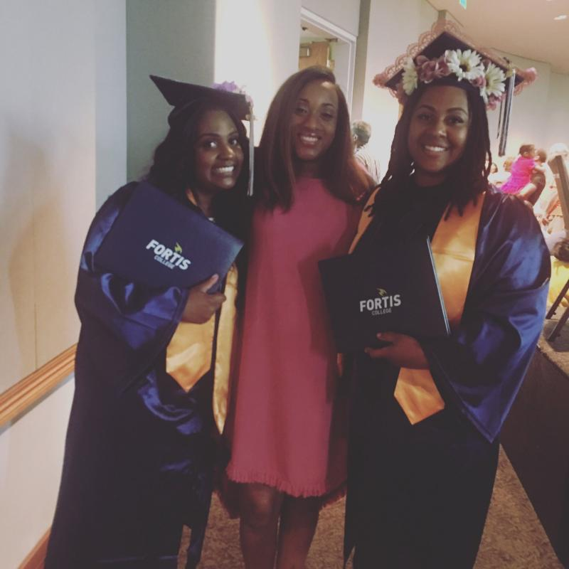 H.O.P.E. Founder and CEO, Kenita Smith (center) with program participants on graduation day