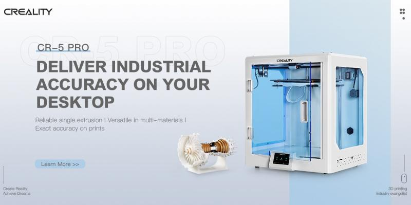 CREALITY to Releases CR-5 Pro 3D Printer Delivering Industrial