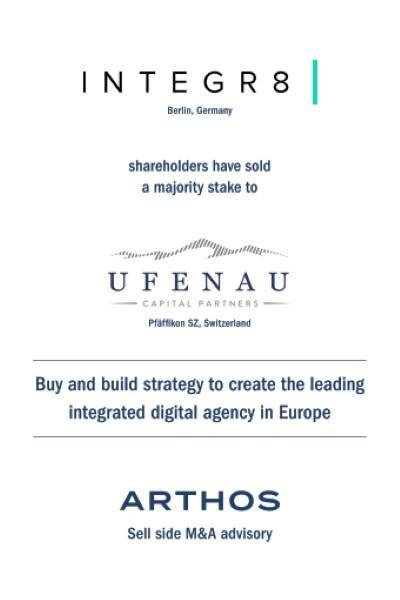 ARTHOS advises INTEGR8 on its sale of a majority stake to Ufenau
