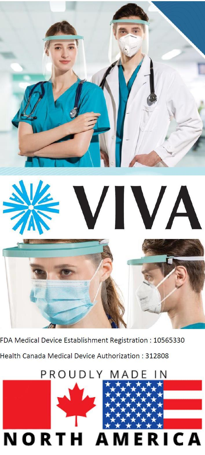 Viva now manufacturing Face Shields and Face Masks in North America