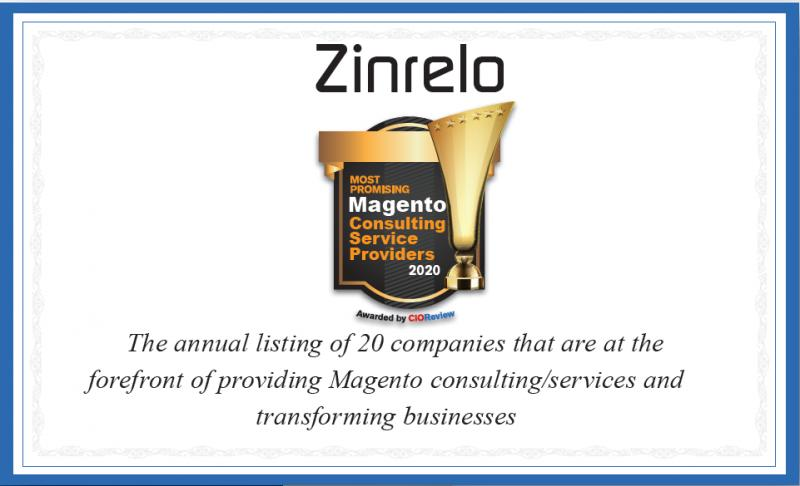 Zinrelo has been awarded as most promising Magento consulting