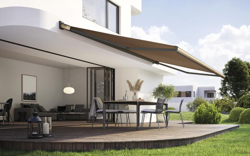"""markilux awning model MX-3 in the new metallic look from the """"Selection MX"""" colour range"""