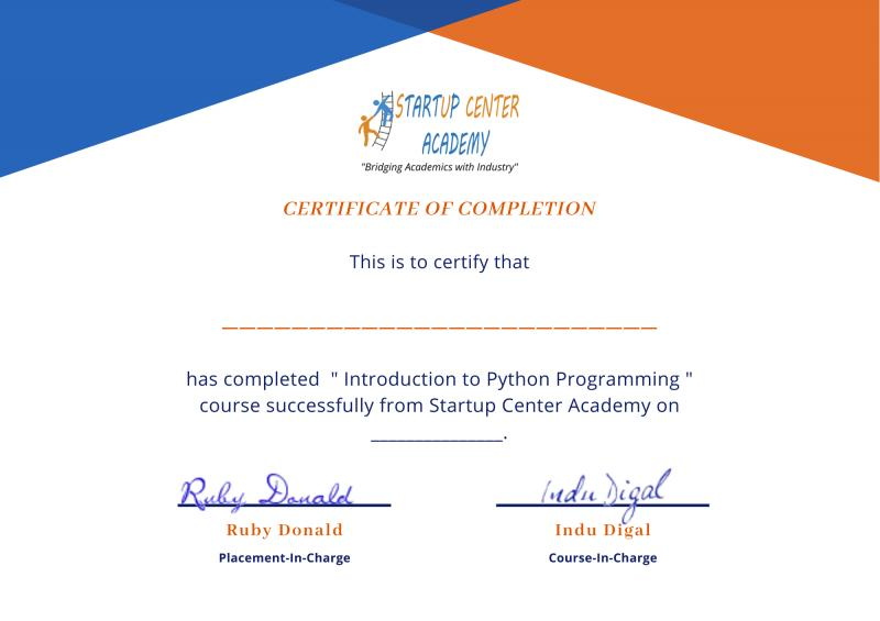 Free Online Python Courses by Startup Center Academy