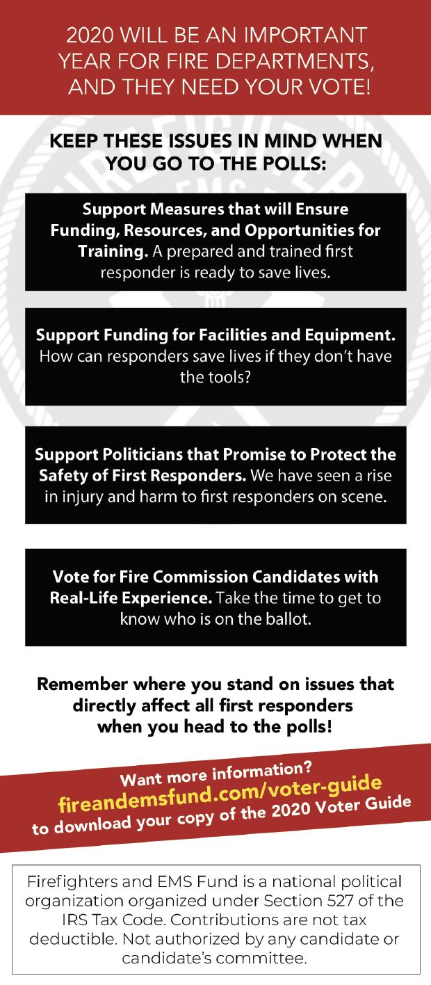Firefighters & EMS Fund 2020 Voter Mail Initiative