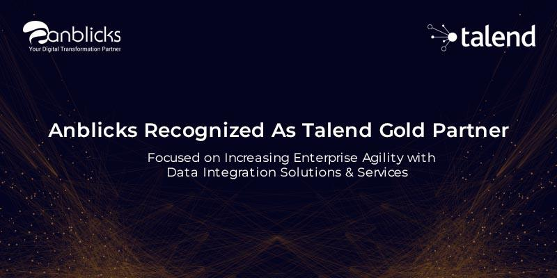 Anblicks Recognized as Talend Gold Partner