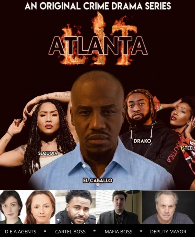 The cast of Lit Atlanta crime drama series