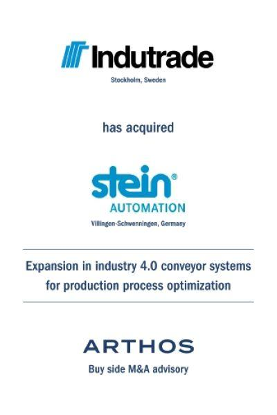 ARTHOS advises Indutrade on its acquisition of Stein Automation
