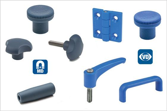 Metal and visually detectable components from Elesa