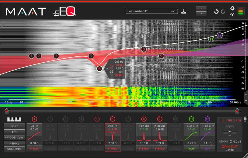 thEQred linear phase parametric EQ by MAAT