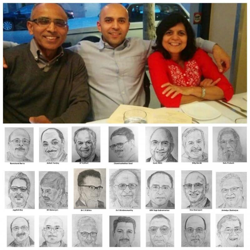 Proud to be BITSian Chandra Bhople Celebrating 35th Wedding Anniversary sketching away the Lockdown Blues