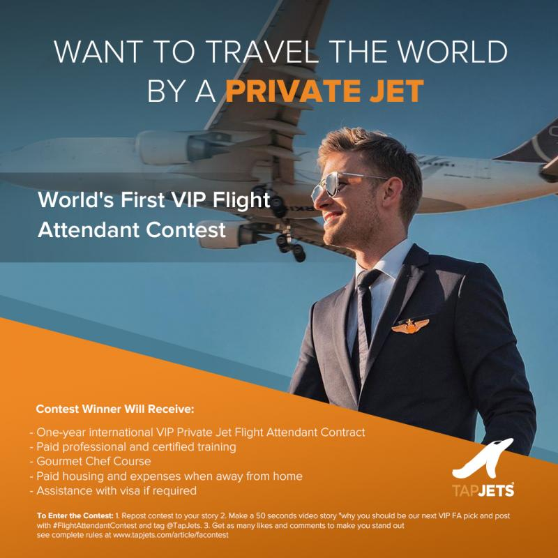 TapJets ? Private Jet Instant Booking Platform announced the worldwide Instagram contest to select the best of the best who will b