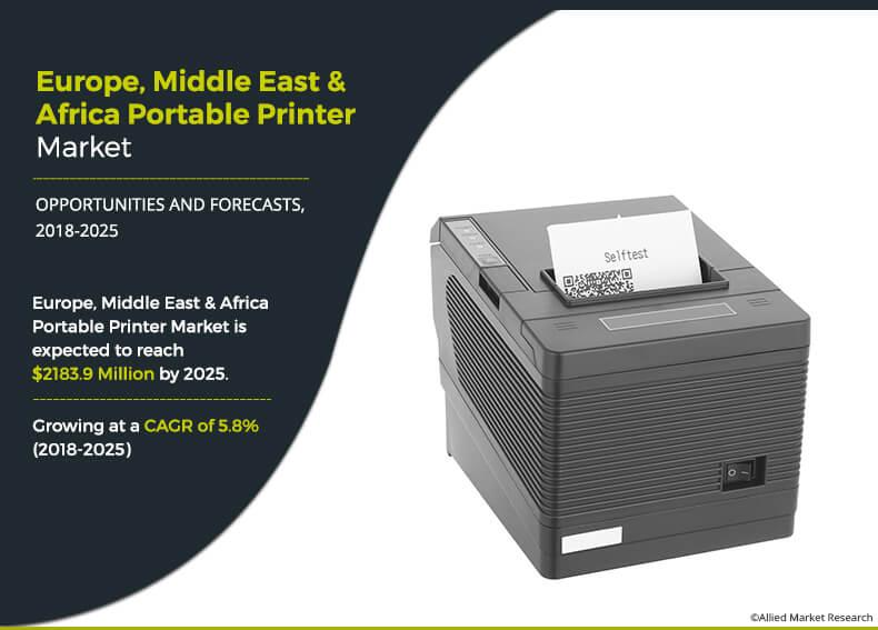 Europe, Middle East and Africa Portable Printer Market