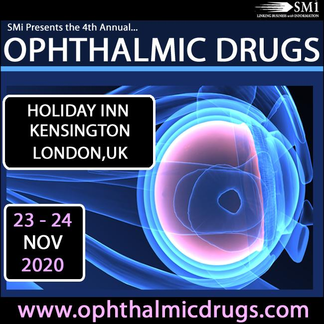 Registration opens for SMi's 4th Annual Ophthalmic Drugs