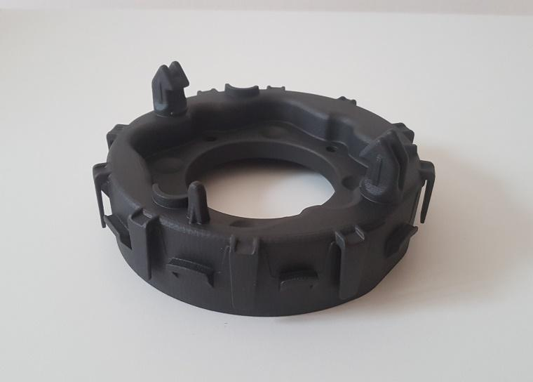 3D printed functional airbag housing container manufactured by CRP Technology for Joyson Safety Systems
