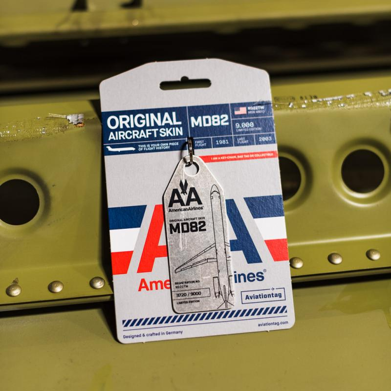 The American Airlines MD82 Aviationtag