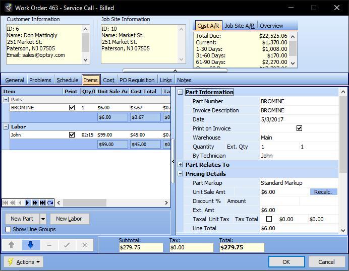 Service Order Software