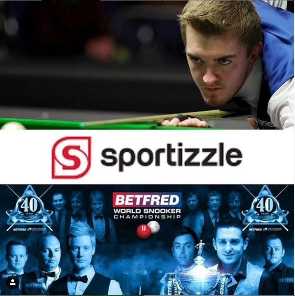 Sportizzle.com sponsors Ross Muir at the World Snooker Championships