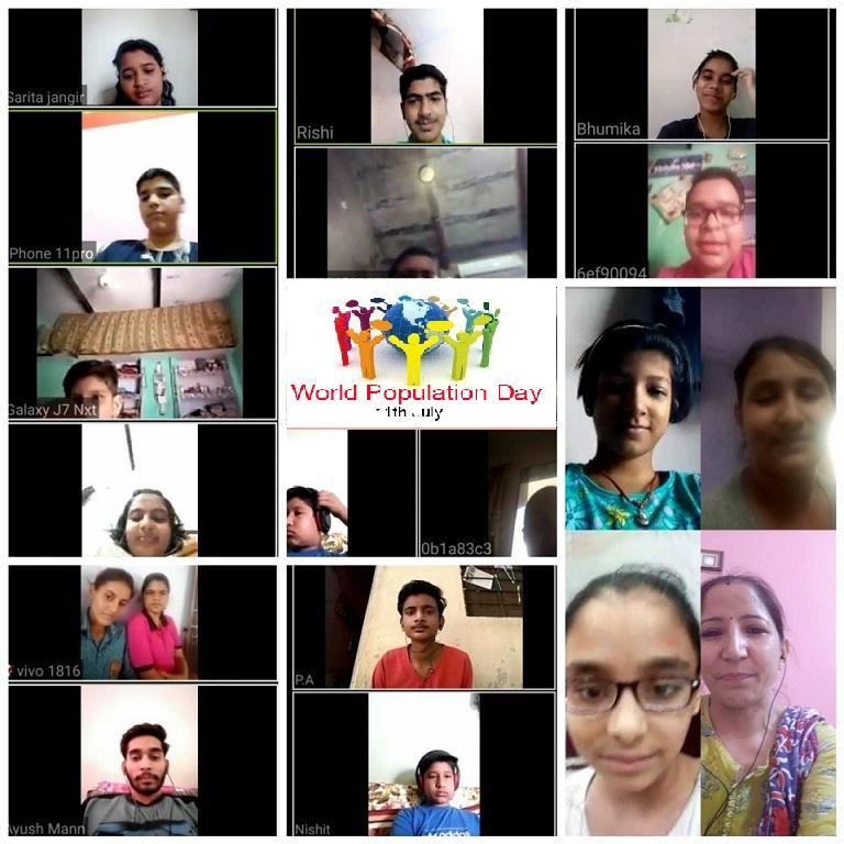 Top Ranking Pilani School JMA Celebrates UN World Population Day 2020