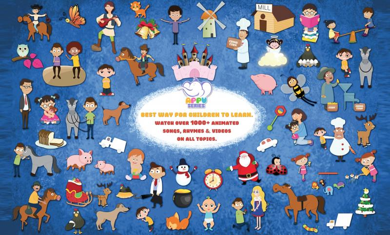The largest library of Nursery Rhymes, comprising of over 1000 rhymes in English and hundreds more in various other languages.