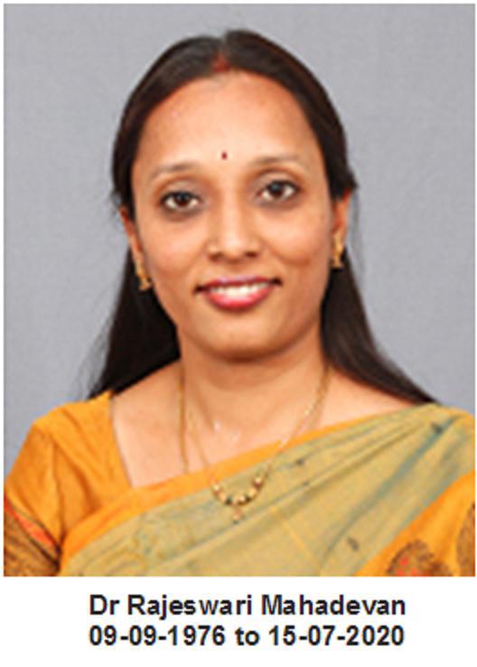 Top Ranking BITS Pilani Optometry Alumnus Dr Rajeswari Mahadevan Contact Lens Specialist Rests in Peace