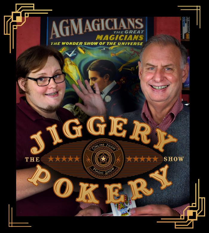 Jiggery Pokery Online Magic Show - Alex and George, father-and-son professional magicians
