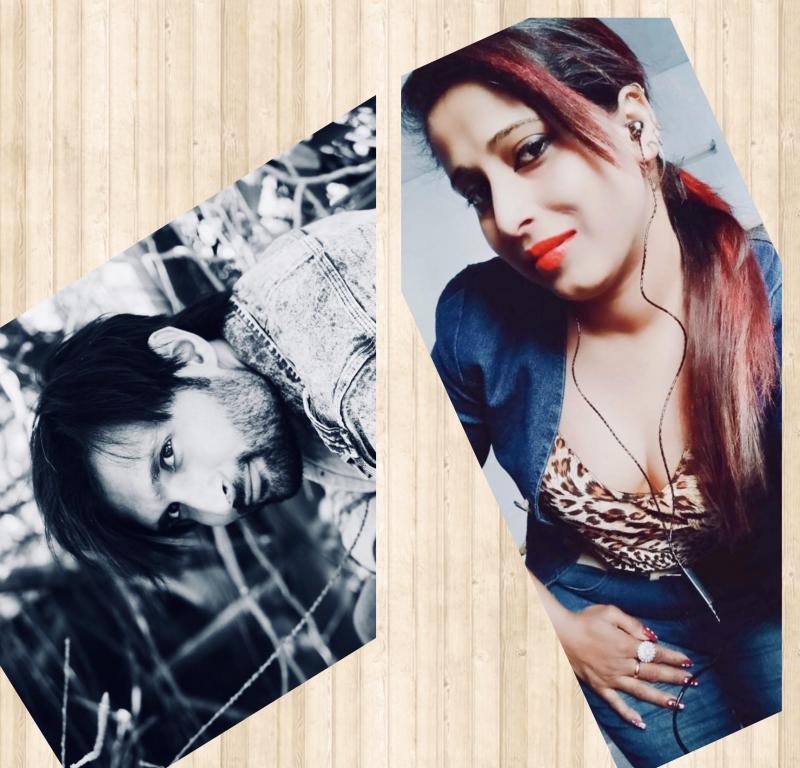 Sanket Sahi and Preeti Lazarus (Models)